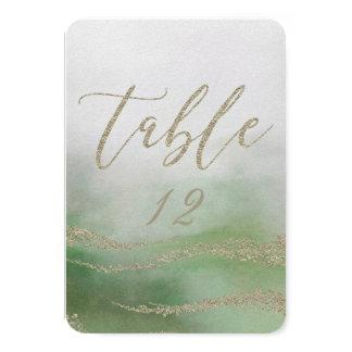 Tarjeta Acuarela elegante en número de la tabla del boda