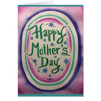 Tarjeta Acuarela feliz II del día de madre