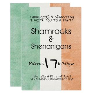Tarjeta Acuarela irlandesa de los Shenanigans de los