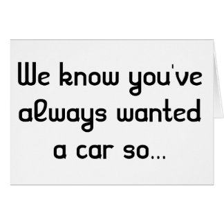 Tarjeta adaptable de la broma del coche