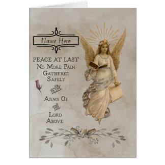 Tarjeta adaptable de la condolencia/de condolencia