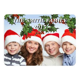 Tarjeta adaptable de la foto de familia del día de invitación 11,4 x 15,8 cm