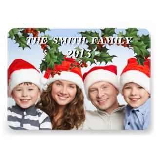 Tarjeta adaptable de la foto de familia del día de anuncio