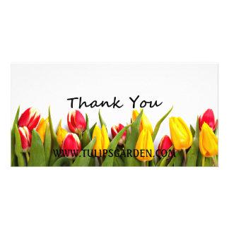 Tarjeta adaptable de la foto del de agradecimiento plantilla para tarjeta de foto