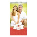 Tarjeta adaptable de la foto del navidad del ornam tarjetas fotograficas personalizadas