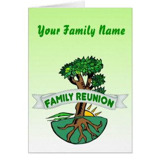 Tarjeta adaptable de la reunión de familia