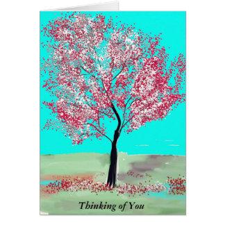 Tarjeta adaptable del árbol de la flor de cerezo