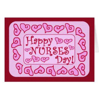 Tarjeta adaptable del día feliz de las enfermeras