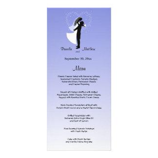 Tarjeta adaptable del menú del boda de Ombre de la Lonas