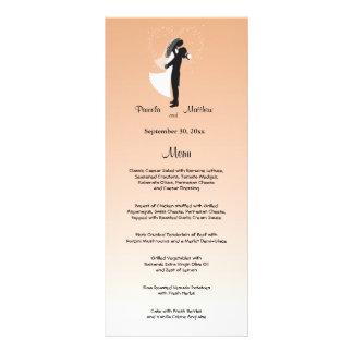 Tarjeta adaptable del menú del boda de Ombre del Plantilla De Lona