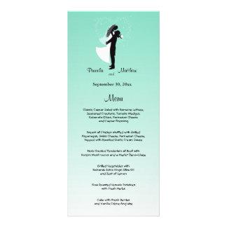 Tarjeta adaptable del menú del boda de Ombre del Tarjeta Publicitaria
