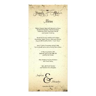 Tarjeta adaptable del menú del boda del argumento