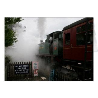 Tarjeta adaptable del tren del vapor