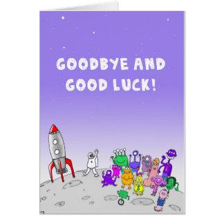 Tarjeta Adiós y buena suerte