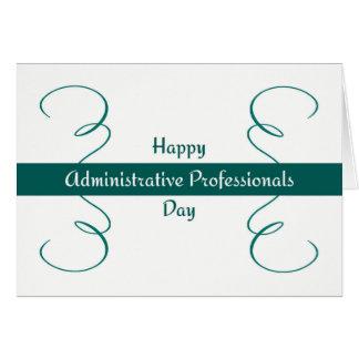 Tarjeta administrativa del día de los