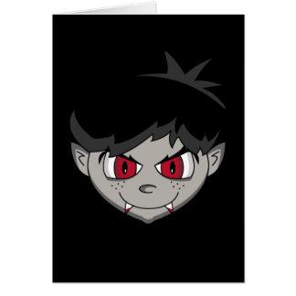Tarjeta adolescente del terror del vampiro
