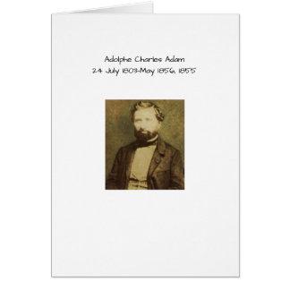 Tarjeta Adolfo Charles Adán, 1855