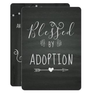 Tarjeta Adopción del fiesta de Announcment- de la acogida