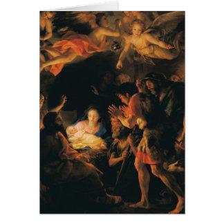 Tarjeta Adoración de los ángeles de los pastores w