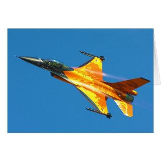 Tarjeta Aeroplano holandés del jet del halcón que lucha