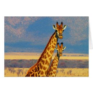 Tarjeta africana del safari