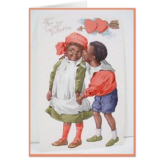 Tarjeta afroamericana del el día de San Valentín