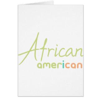 Tarjeta Afroamericano