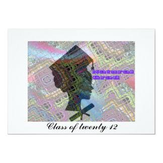 Tarjeta Afrochica de la graduación Invitación 12,7 X 17,8 Cm