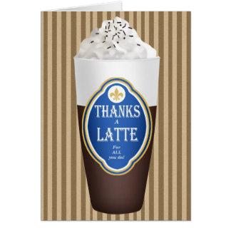 Tarjeta Agradece un Latte