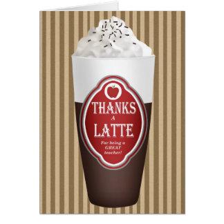 Tarjeta Agradece un Latte (para un profesor)