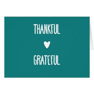 """Tarjeta """"agradecida y agradecida"""" del trullo de"""
