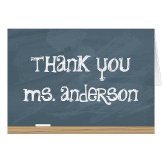 Tarjeta ¡Agradezca su profesor o profesor particular!
