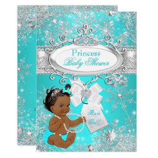 Tarjeta Aguamarina de los copos de nieve de la princesa