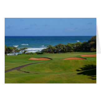 Tarjeta Agujero 17 del golf de Wailua