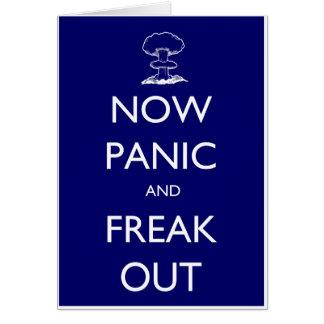 Tarjeta Ahora el pánico y Freak hacia fuera