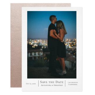 Tarjeta Ahorre el boda de la fecha personalizado