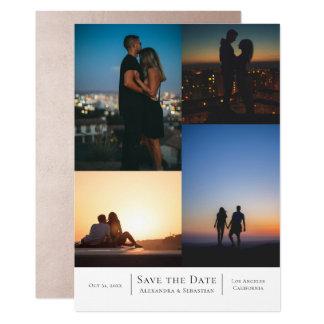 Tarjeta Ahorre el boda del collage de la fecha