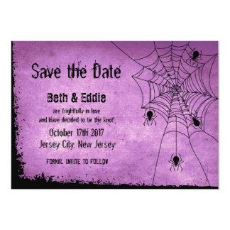 Tarjeta Ahorre la fecha para el boda de Halloween con las