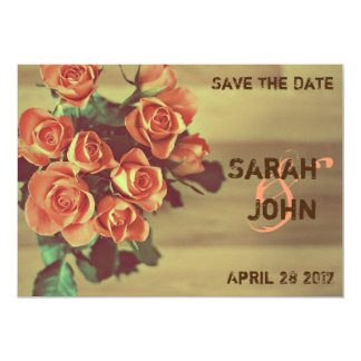 Tarjeta Ahorre la fecha - rosas
