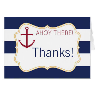 Tarjeta Ahoy allí la fiesta de bienvenida al bebé náutica