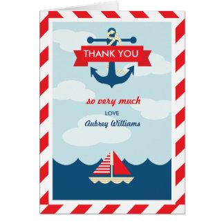 Tarjeta ¡Ahoy! Náutico gracias cardar