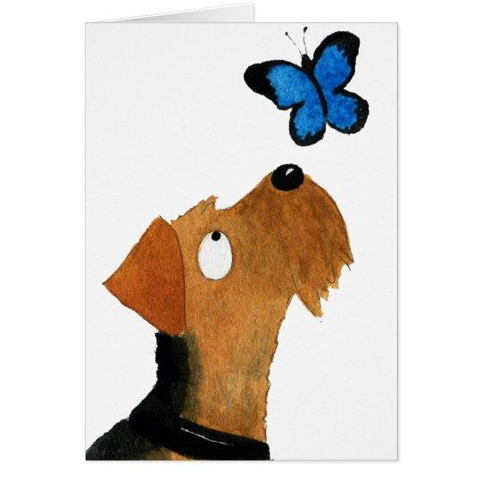 Tarjeta Airedale Terrier