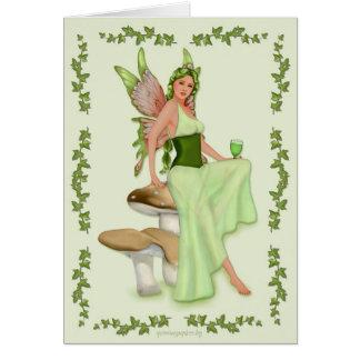 Tarjeta Ajenjo - la hada verde