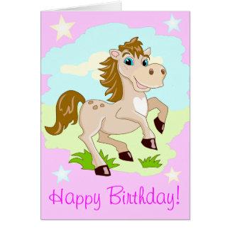 Tarjeta Al chica muy especial un caballo feliz protagoniza