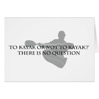Tarjeta Al kajak o no kayak