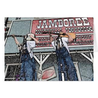 Tarjeta Al revés Bluegrass
