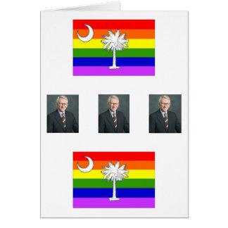Tarjeta alcalde, alcalde, alcalde, bandera del arco iris