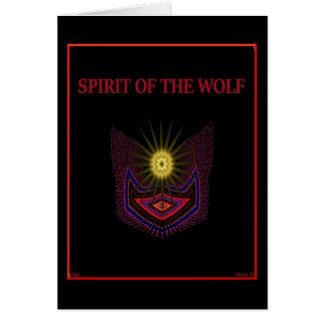 Tarjeta Alcohol del lobo