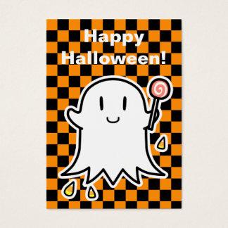 Tarjeta alegre de Halloween del fantasma (corrija