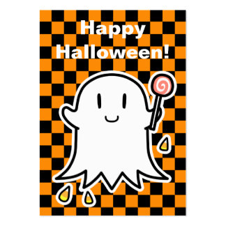 Tarjeta alegre de Halloween del fantasma (corrija Tarjetas De Visita Grandes